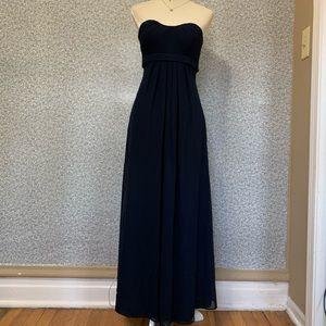 ❤️Bill Levkoff Dark Blue Strapless Long Maxi Dress